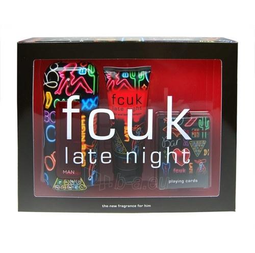 Tualetinis vanduo Fcuk Late Night for Him EDT 100ml (rinkinys) Paveikslėlis 1 iš 1 250812004706