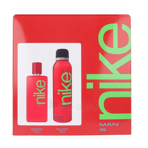 Tualetes ūdens Nike Red Man EDT 100ml (Rinkinys 2) Paveikslėlis 1 iš 1 310820025135