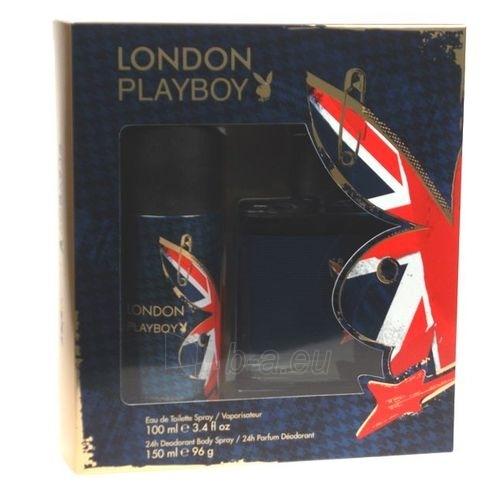 Tualetes ūdens Playboy London EDT 100ml (komplekts) Paveikslėlis 1 iš 1 250812003098
