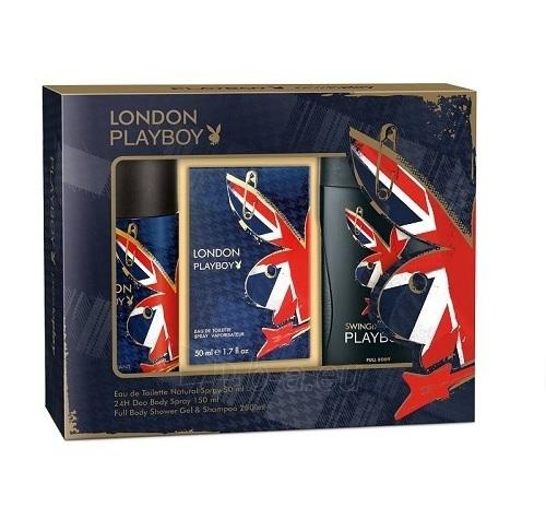 Tualetes ūdens Playboy London EDT 50ml (komplekts) Paveikslėlis 1 iš 1 250812004687