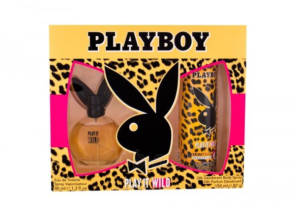 Tualetinis vanduo Playboy Play It Wild For Her Eau de Toilette 40ml (Rinkinys) Paveikslėlis 1 iš 1 310820171564
