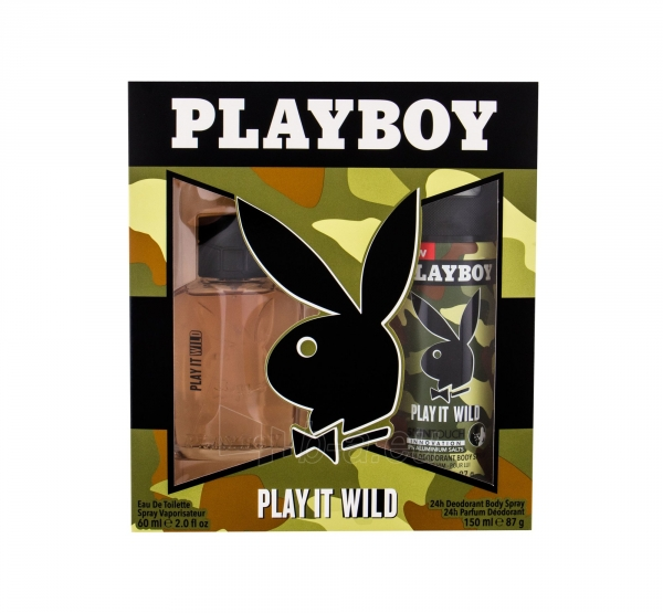 Tualetinis vanduo Playboy Play It Wild For Him Eau de Toilette 60ml (Rinkinys) Paveikslėlis 1 iš 1 310820171566