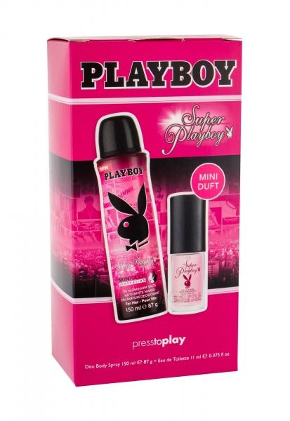 Tualetinis vanduo Playboy Super Playboy For Her Eau de Toilette 11ml (Rinkinys) Paveikslėlis 1 iš 1 310820174738