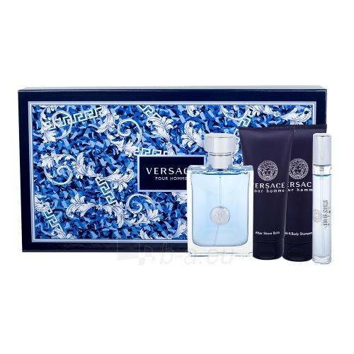 Tualetinis vanduo Versace Pour Homme EDT 100ml + Aftershave Balm 100 ml + Shower Gel 100 ml + Edt 10 ml (Rinkinys) Paveikslėlis 1 iš 1 310820075321