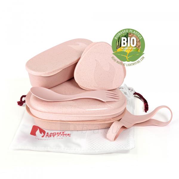 Turistinių indų rinkinys Lunch Kit Dusty pink Paveikslėlis 1 iš 2 310820228969