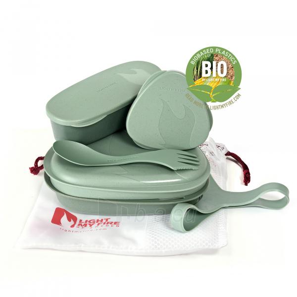 Turistinių indų rinkinys Lunch Kit Sandy green Paveikslėlis 1 iš 2 310820228970