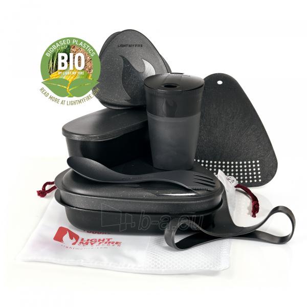 Turistinių indų rinkinys Meal Kit Bio Slaty black Paveikslėlis 1 iš 2 310820228968