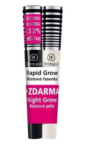 Dermacol Rapid Grow Lash Mascara + Night Grow Lash Serum Cosmetic 16ml Paveikslėlis 1 iš 1 250871100138