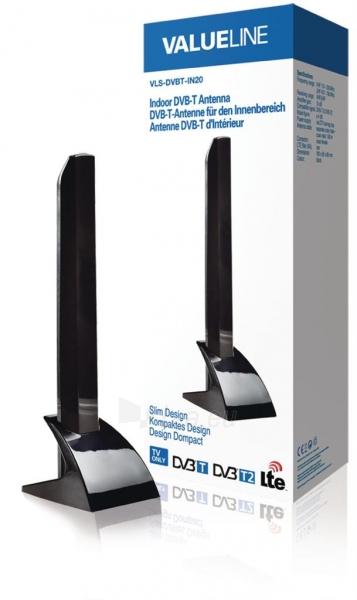 Valueline indoor DVB-T antena slim design 15 dB Paveikslėlis 1 iš 3 310820044817