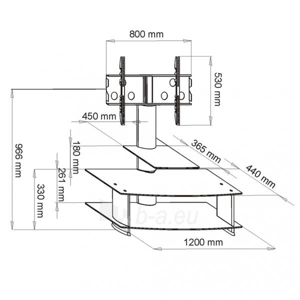 TV laikiklis ART BOARD+HOLDER TO TV LCD/LED/PLAZMA 30-50 60KG S-01B black Paveikslėlis 2 iš 2 310820045026