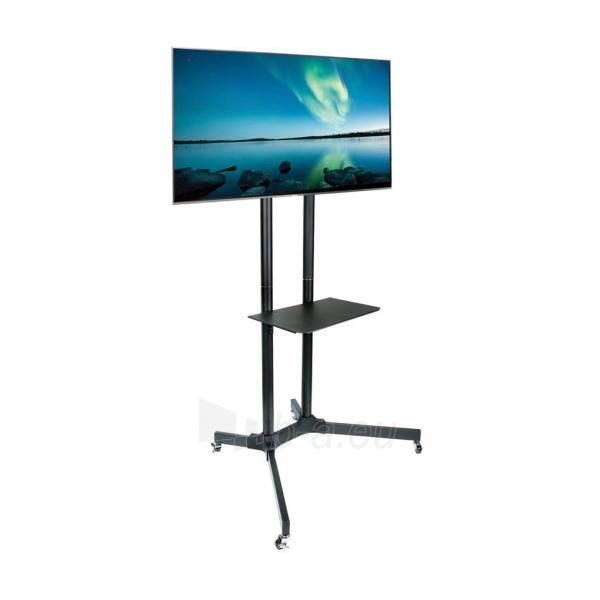 TV laikiklis ART BOARD on wheels+HOLDER TO TV LCD/LED/PLAZMA 30-65 60KG S-08A Paveikslėlis 4 iš 5 310820045027