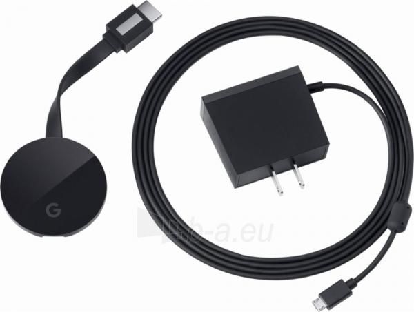 TV modulis Google Chromecast Ultra black Paveikslėlis 4 iš 8 310820152787