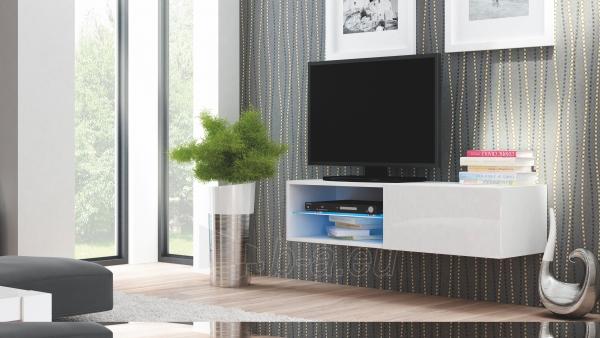 TV spintelė LIVO RTV-120W balta Paveikslėlis 1 iš 3 310820194653