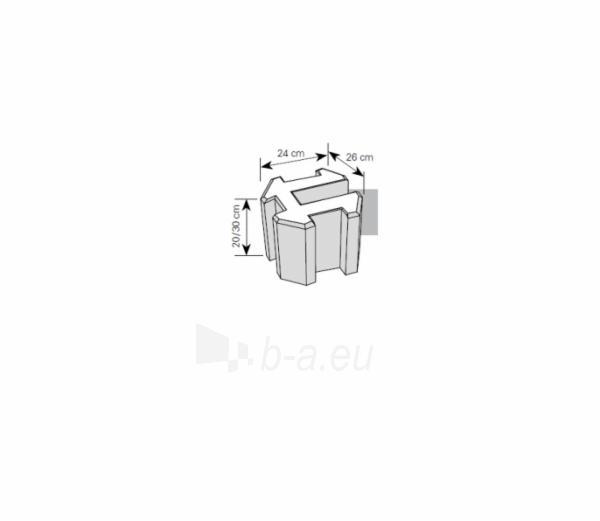 Tvoros pamato elementas 20 cm (H formos) Paveikslėlis 1 iš 1 310820022835