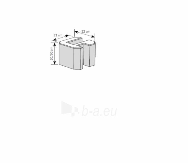 Tvoros pamato elementas 20 cm (kampinis) Paveikslėlis 1 iš 1 310820022830