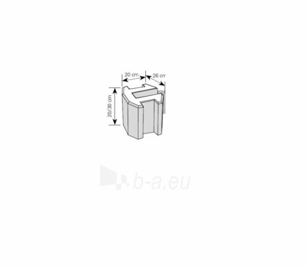 Tvoros pamato elementas 20 cm (trišakis) Paveikslėlis 1 iš 1 310820022832