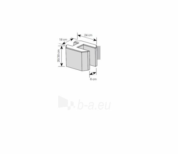 Tvoros pamato elementas 30 cm (paprastas) Paveikslėlis 1 iš 1 310820022829