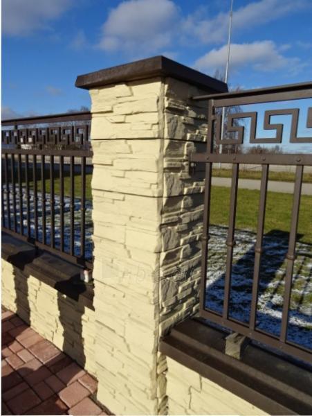 Tvoros stulpo blokelis (uolos imitacija)380x380x190 mm. Paveikslėlis 1 iš 1 310820016600