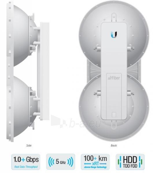 Ubiquiti airFiber 5U 5.7 - 6.2GHz Point-to-Point 1+Gbps Radio Paveikslėlis 1 iš 4 310820009147