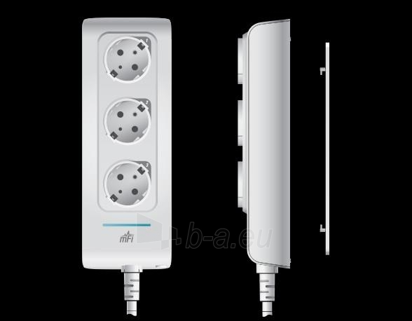 Ubiquiti mFI mPower Network Power Outlet, 3-Port Paveikslėlis 2 iš 2 250257100508