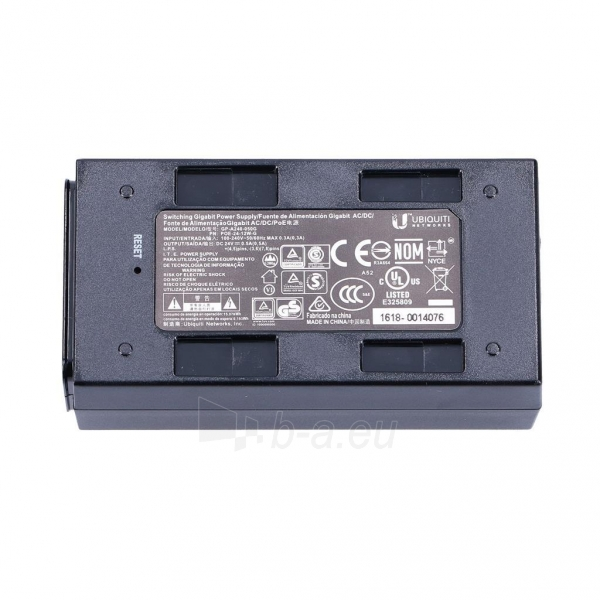 Ubiquiti PoE-24G Passive PoE Adapter EU, 24V 0.5A, ESD prot, 12W, Gigagbit Eth. Paveikslėlis 4 iš 4 250257100579