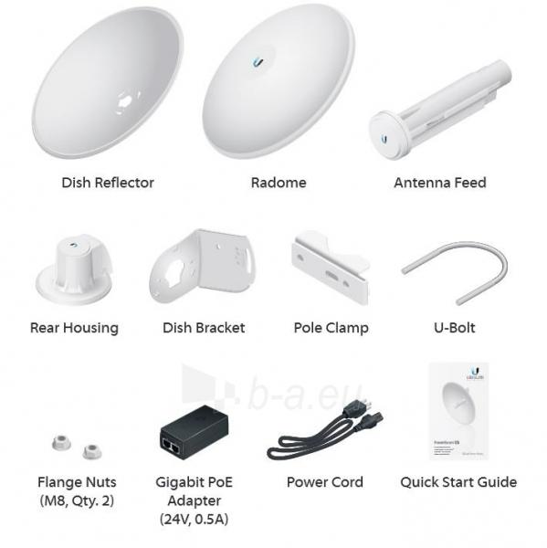 Ubiquiti PowerBeam AC 27dBi 5GHz 802.11ac 450+ Mbps, GigE PoE, 500mm Dish Ref. Paveikslėlis 3 iš 3 250257100650