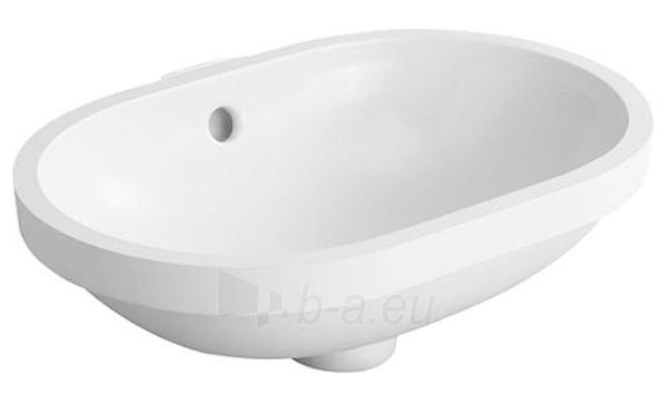 Undercounter basin 43 cm Foster,white, w.overflo Paveikslėlis 1 iš 1 270711000974