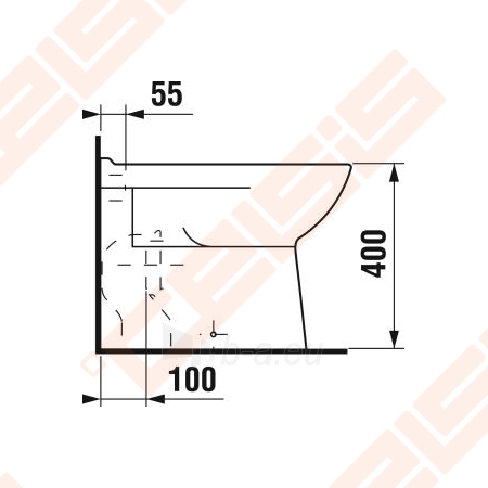 "Toilet ""Olymp"" withaut tank with right runoff Paveikslėlis 3 iš 4 270713000342"