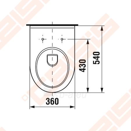 "Toilet ""Olymp"" withaut tank with right runoff Paveikslėlis 4 iš 4 270713000342"