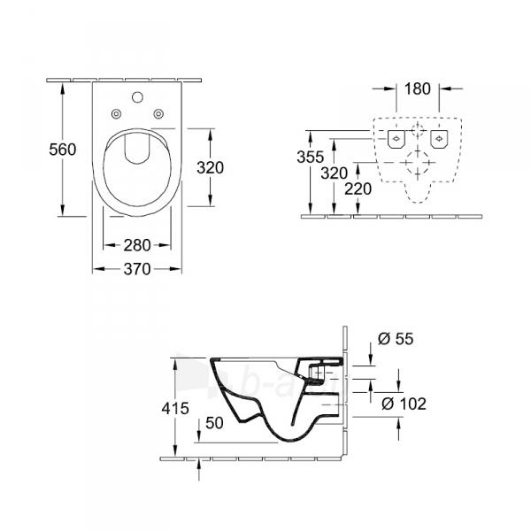 Toilet Subway 2.0 ViFresh ir SoftClose cover Paveikslėlis 2 iš 6 310820239151