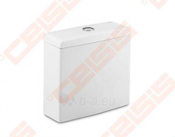 Tualete tvertne ROCA Meridian Compact ar dvigubu 4,5 / 3 litrų nuplovimu Paveikslėlis 1 iš 2 270713001124