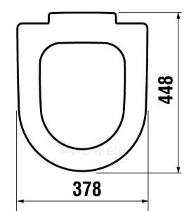 Toilet cover CUBITO / MIO WC , antibacterial, Slow Close, chromuoti lankstai Paveikslėlis 2 iš 2 310820165642