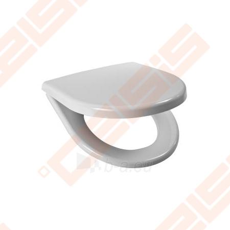 Toilet cover JIKA outbord unitazams Lyra Plus with chrom clamps ir antibacterial efektu Paveikslėlis 1 iš 1 270713001130