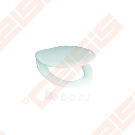 Unitazo dangtis JIKA Zeta su lėto užsidarymo sistema, be logotipo ant dangčio, su reguliuojamais plastikiniais lankstais, lengvai numontuojamas Paveikslėlis 1 iš 2 270713001131