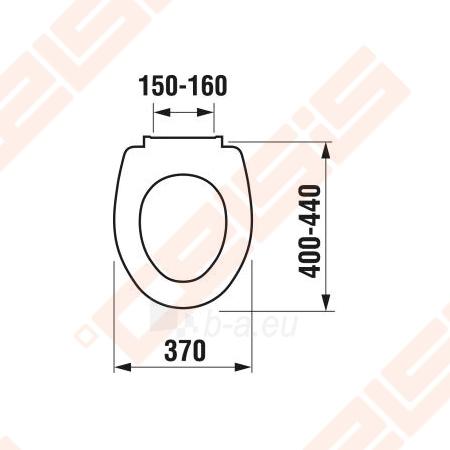Unitazo dangtis JIKA Zeta su lėto užsidarymo sistema, be logotipo ant dangčio, su reguliuojamais plastikiniais lankstais, lengvai numontuojamas Paveikslėlis 2 iš 2 270713001131