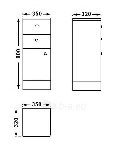 Universali pastatoma spintelė G102 Paveikslėlis 3 iš 5 30057400179