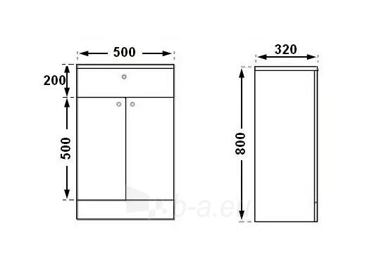 Universali pastatoma spintelė G105 Paveikslėlis 3 iš 3 30057400180