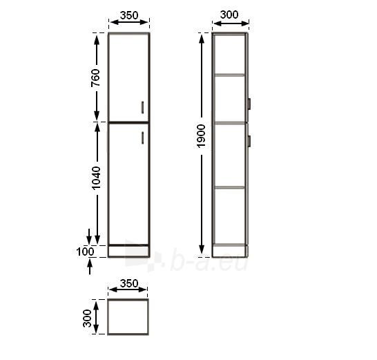 Universali pastatoma spintelė G30D(G) Paveikslėlis 2 iš 4 30057400182