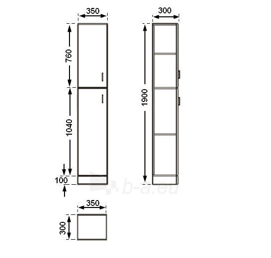 Universali pastatoma spintelė G30D(G) Paveikslėlis 4 iš 4 30057400182