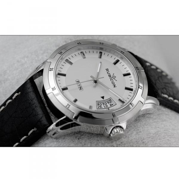 Universalus laikrodis RUBICON RNCC69 MG WH IN BK Paveikslėlis 1 iš 1 30100800907