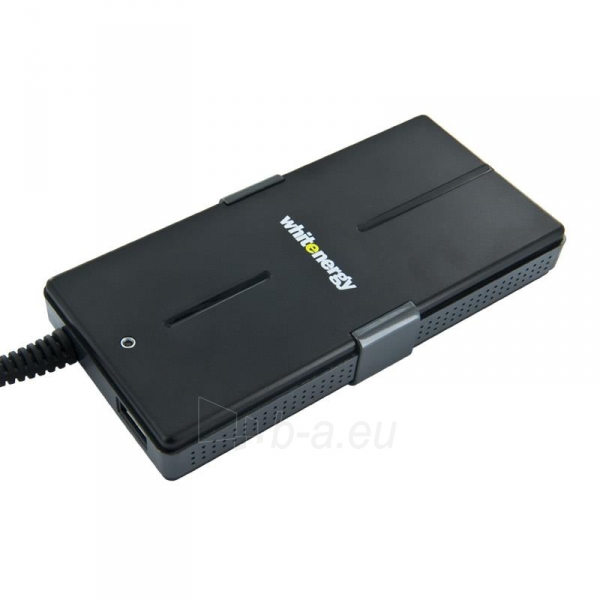 Universalus maitinimo šaltinis Whitenergy 65W, 8 antgalių, USB, Super Slim Paveikslėlis 1 iš 5 250256401099
