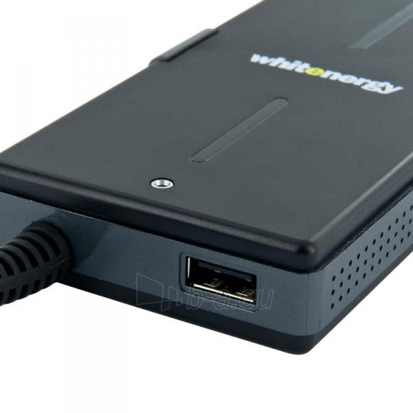 Universalus maitinimo šaltinis Whitenergy 65W, 8 antgalių, USB, Super Slim Paveikslėlis 2 iš 5 250256401099