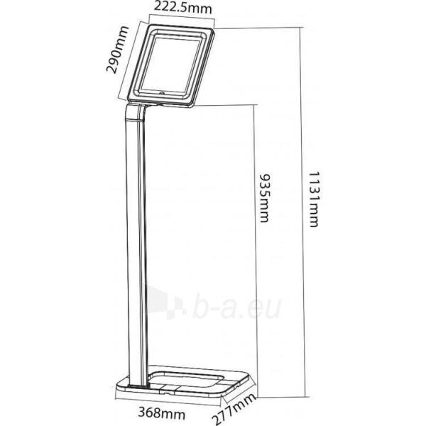 Universalus stovas planšetei Techly Uniwersal floor stand for iPad and tablets 9.7-10.1 with key lock Paveikslėlis 2 iš 3 310820135274