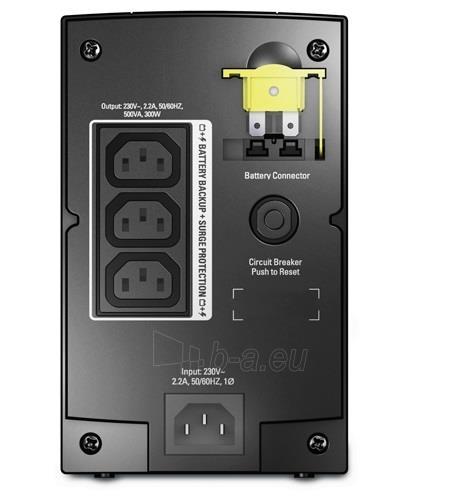 APC Back-UPS 500VA,AVR, IEC outlets, EU Medium Paveikslėlis 2 iš 2 250254300877