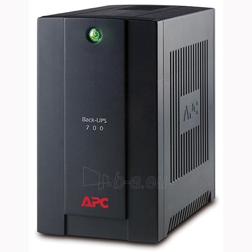 APC Back-UPS 700VA, 230V, AVR, Schuko Paveikslėlis 1 iš 2 250254301347
