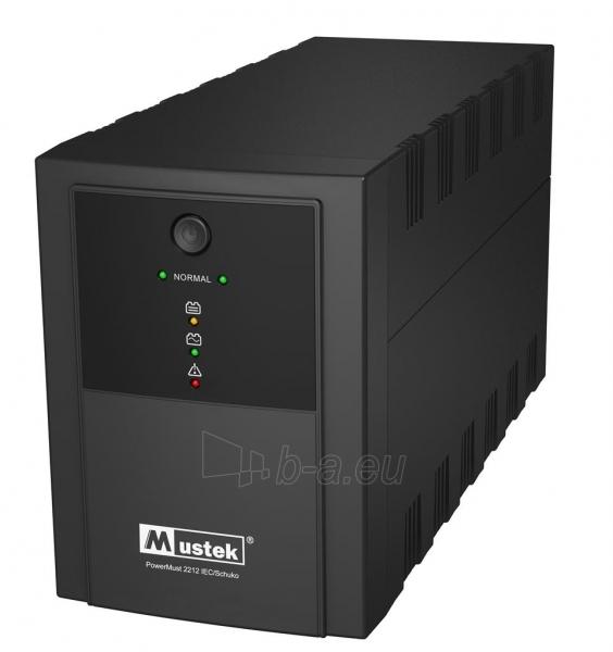Mustek UPS PowerMust 2212 (2200VA) IEC/Schuko Paveikslėlis 1 iš 2 250254301312