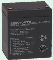 Europower rechargeable battery 12V/5Ah T2 (6,35mm) Paveikslėlis 1 iš 1 250254301066