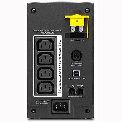 APC Back-UPS 700VA, 230V, AVR, USB, IEC Paveikslėlis 2 iš 2 250254301324