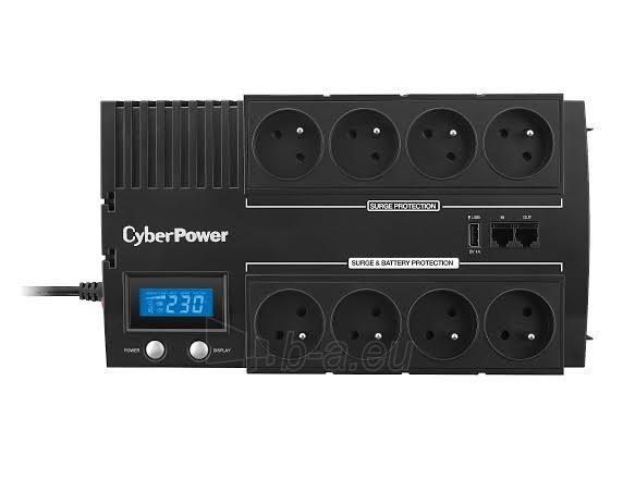 UPS maitinimo šaltinis Cyber Power Green Power UPS BR700ELCD-FR Paveikslėlis 1 iš 4 310820013414