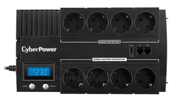 UPS maitinimo šaltinis Cyber Power Green Power UPS BR700ELCD-FR Paveikslėlis 4 iš 4 310820013414